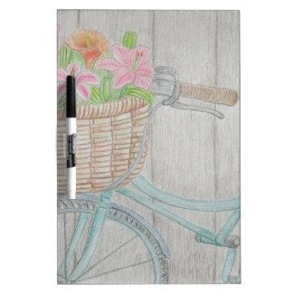 Flower bike Dry-Erase board