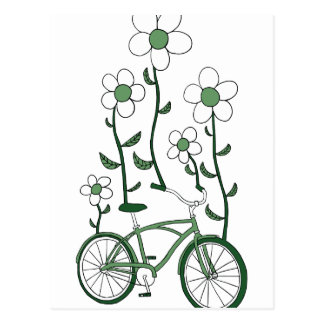 Flower Bike Postcard