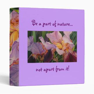 Flower Binder - Irises from my Garden