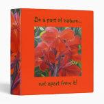Flower Binder - Red Cannas
