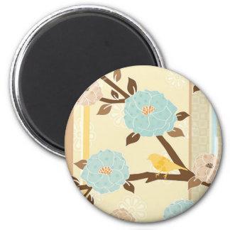 Flower Bird Design Magnet