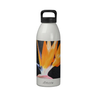 flower bird flying to sucess water bottle