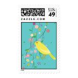 flower bird stamps