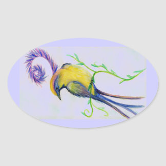 flower bird sticker