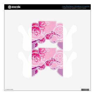 Flower Bird vector design Decal For PS3 Controller