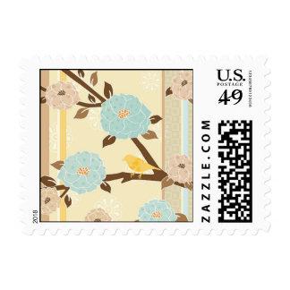 Flower Birds Design1 Stamp