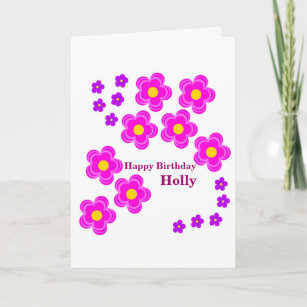 Flower Birthday Card Personalize For Her