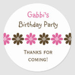 flower, flowers, favor, stickers, birthday, bday,