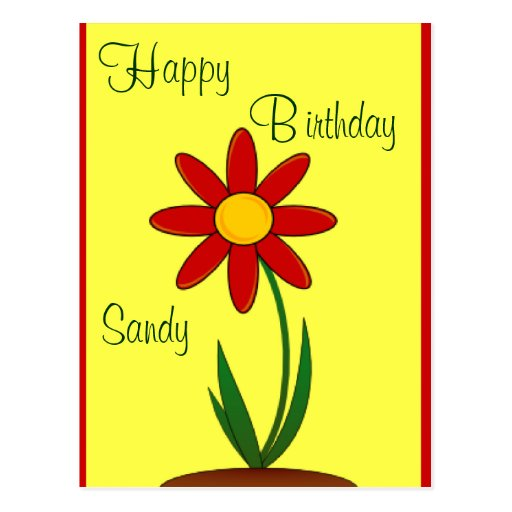 Flower Birthday Wishes Post Card