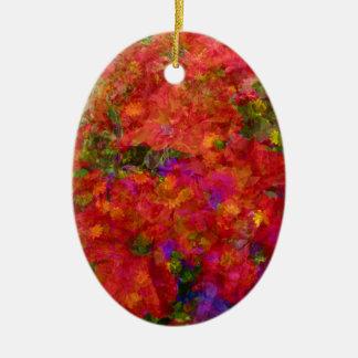 Flower Blend Ceramic Ornament