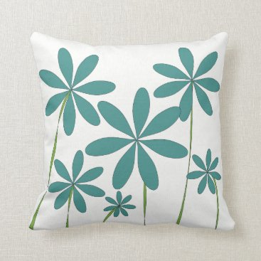 Beach Themed Flower Bliss1 Throw Pillow