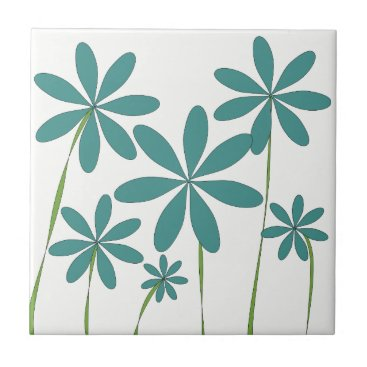 Beach Themed Flower Bliss1 Tile