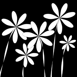 Black and white flowers ceramic tiles zazzle flower bliss2 black white ceramic tile mightylinksfo