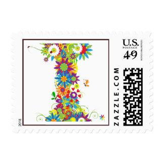 Flower Blossom Monogram I Postage