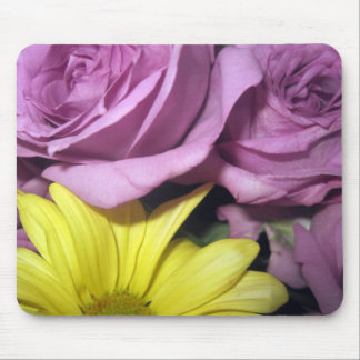 Flower Blossoms Daisy Roses Love Destiny Mouse Pad