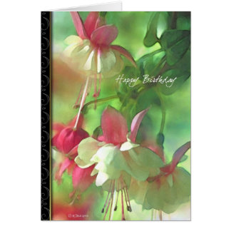 Flower Blossoms floral Birthday card