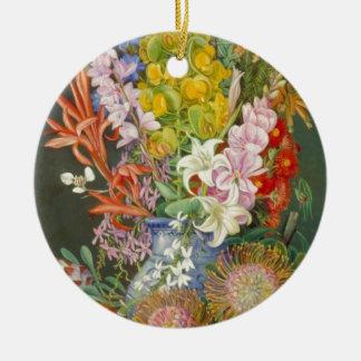 Flower Blossoms Peace Love Inspirational Faith Christmas Ornament