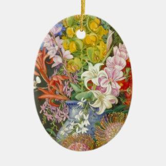 Flower Blossoms Peace Love Inspirational Faith Christmas Ornaments