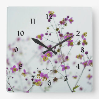 Flower Blossoms, Springtime Square Wall Clock