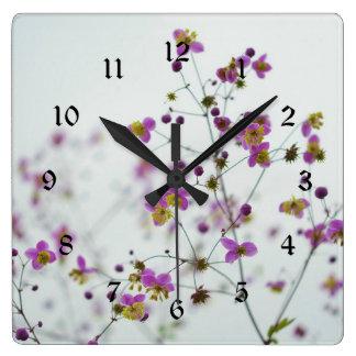 Flower Blossoms, Springtime Square Wall Clock