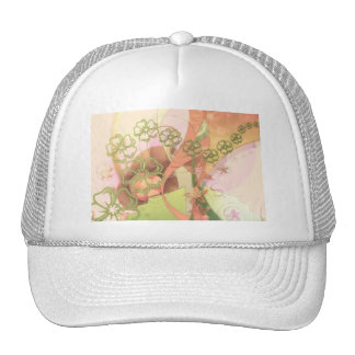 Flower Blossoms Vines  Love Destiny Art Digital Mesh Hats