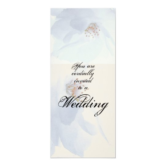 Flower Blossoms Wedding Invitation