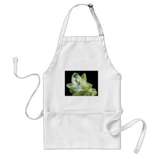 flower blossoms white Love Kiss Make Up Adult Apron
