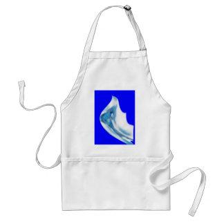 flower blue adult apron