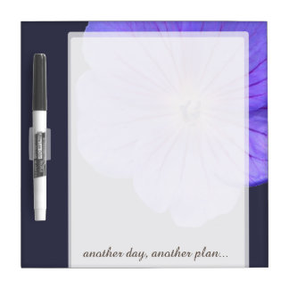 Flower Blue Geranium any Text on any Color Dry Erase Board