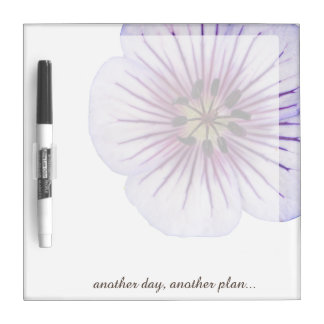Flower Blue Geranium any Text on any Color Dry-Erase Board