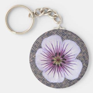 Flower Blue Geranium Photo Keychain