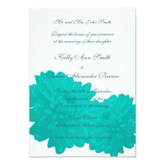 Flower (Blue) Large Rectangular Invitation