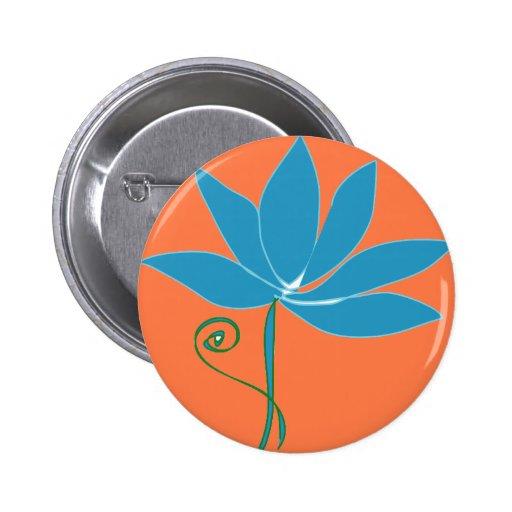 Flower - Blue Lotus Button