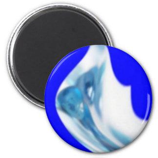 flower blue 2 inch round magnet