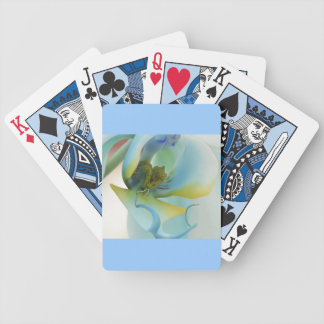 Flower Blue Orchid Bicycle Playing Cards