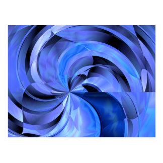 Flower Blues Abstract Fine Art Postcard