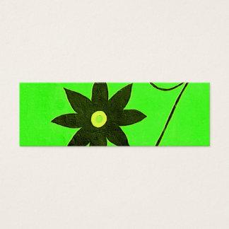 flower bookmark mini business card