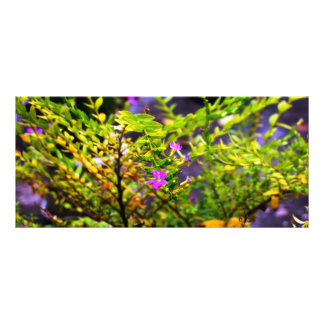 flower bookmark rack card
