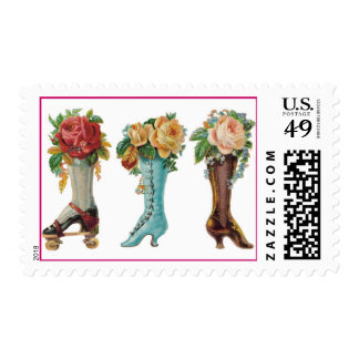 Flower Boots Postage Stamps