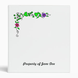 Flower border binder