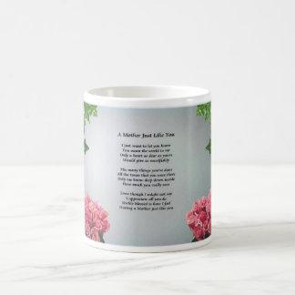 Flower Border Mother Poem Mugs