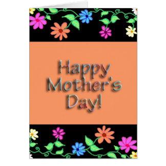 Flower Border Mother's Day Card - Verse Inside