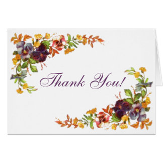 Flower border Thank You! Card