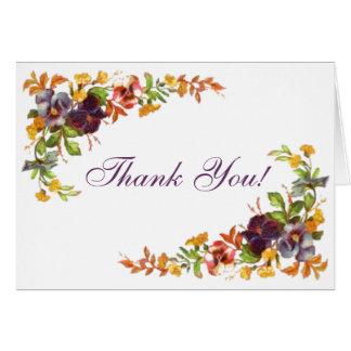Flower border Thank You! Card