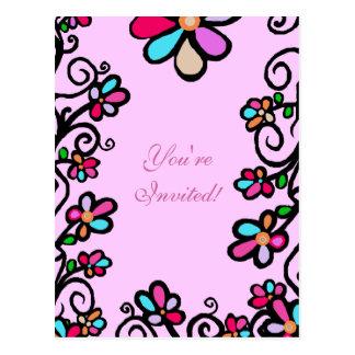 Flower Borders Postcard