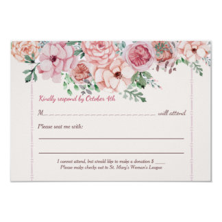 Flower Borders RSVP Card
