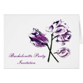 Flower botanical Bachelorette party invitation Greeting Cards