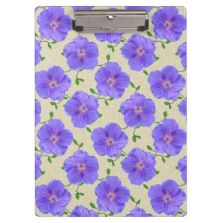 Flower Botanical Garden Pattern Blue on any Color