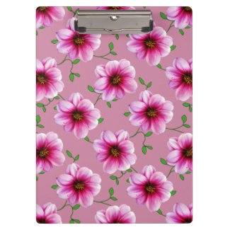Flower Botanical Garden Pattern Pink on any Color