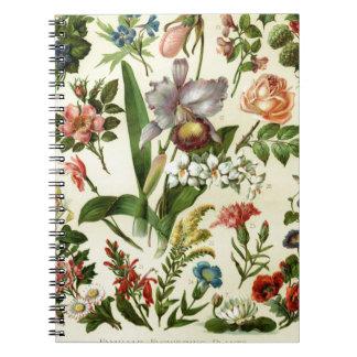Flower Botanicals Spiral Notebook